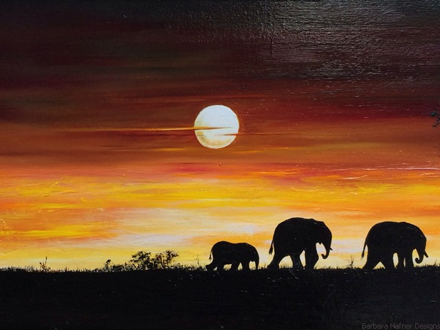 "African Journey<br/>16"" x 40""<br/>Maxine Gillilan"