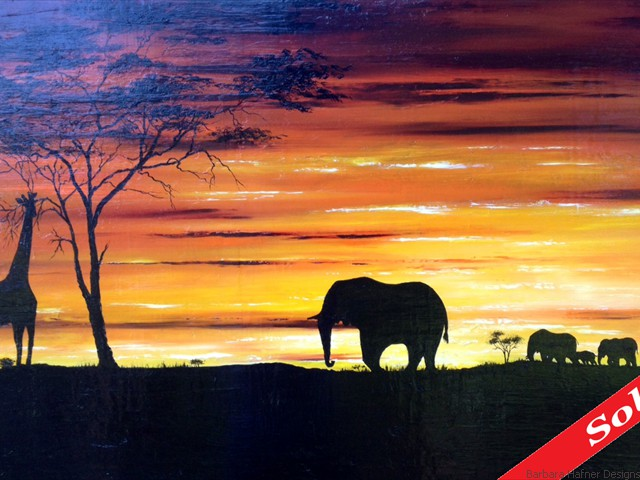 "African Sunset II<br/>20"" x 30""<br/>Maxine Gillilan"