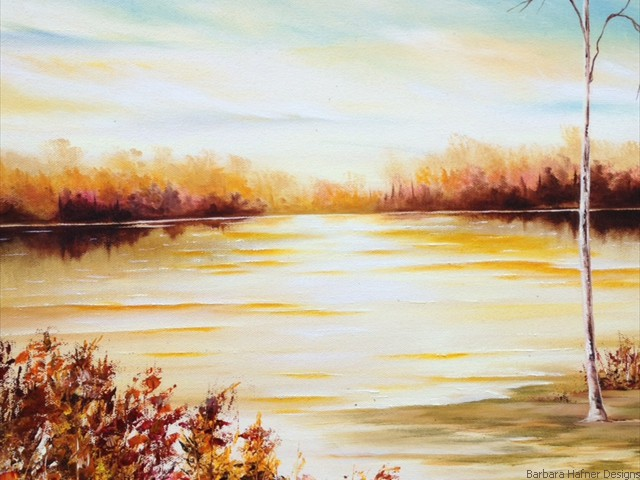 "Fall Afternoon<br/>18"" x 24""<br/>Maxine Gillilan"