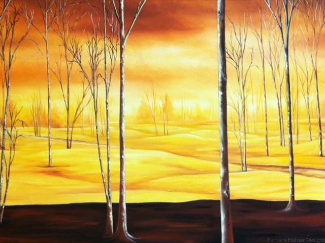 "Golden Forest<br/>20"" x 40""<br/>Maxine Gillilan"
