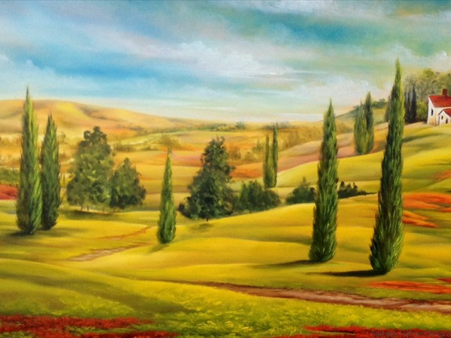 "Tuscany Countryside<br/>18"" x 24""<br/>Maxine Gillilan"